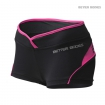 Shaped Hotpant, Black-Pink