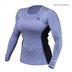 Performance Shape Long Sleeve, Purole Melange