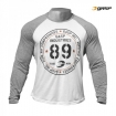 Raglan Long Sleeve Tee White-Grey Melange